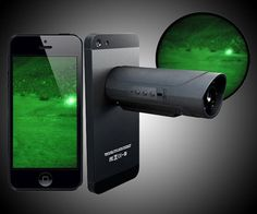 The Snooperscope is a nifty smartphone or tablet accessory for hunters and fishermen seeking night vision. Athletes seeking to capture their accomplishments in the dark. Ghost hunters seeking validation of their obsession. And most of all, snoops se New Technology Gadgets, Spy Gadgets, Cool Technology, Cool Gadgets, Energy Technology, Amazon Gadgets, Technology Gifts, Camping Gadgets, Futuristic Technology