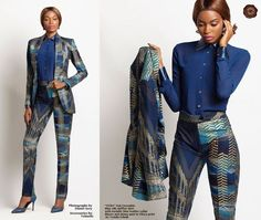 Loooooove this Ankara suit, absolutely beautiful African Fashion Designers, African Inspired Fashion, African Dresses For Women, African Print Fashion, Africa Fashion, African Attire, African Wear, African Fashion Dresses, African Women