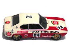 Ford Capri RS 2600 Lucky Strike 9Hs Kyalami 1971 by SRC Slot Cars, Race Cars, Mk 1, Ford Capri, Parma, Axe, Rally, Touring, Euro