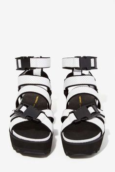 Intentionally Blank React Perforated Leather Sandal