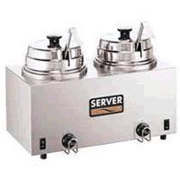 Server Products 81220 Twin Hot Topping Warmer With Ladles