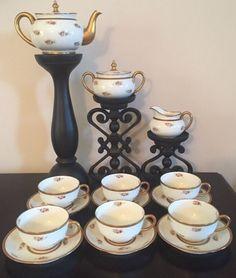 Stunning Antique Limoges J.P.L Jean Pouyat Tea Set Service #Limoges