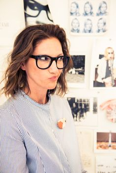 """My thing is, if I'm wearing casual clothes, I usually want to wear a heel or a sparkly shoe; if I'm wearing dressy clothes, I usually want to wear a flat—everything has to be opposite."" http://www.thecoveteur.com/jenna-lyons/"
