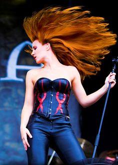 Simone Simons red hair