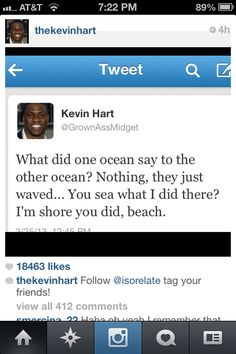 Kevin Hart: Otherwise known as my favorite comedian Kevin Hart Funny Quotes, Jokes Photos, Funny Jokes, Hilarious, Offensive Humor, Funny As Hell, Laughing So Hard, Comedians, I Laughed