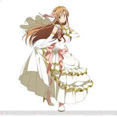 Smartphone Games - sword art online bride  | Sword Art Online Smartphone Game Asuna and Silica June Bride Designs ...
