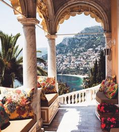 Built during the Belle Epoque, on the coast at Roquebrune-Cap-Martin, this villa hosted guests including Coco Chanel and Greta Garbo,. Oh The Places You'll Go, Places To Travel, Travel Destinations, Beautiful World, Beautiful Places, To Infinity And Beyond, Travel Goals, Travel Plane, Travel Packing