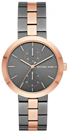 Michael Kors Garner Ladies Analog Casual Multicolored Watch for sale online Pink Grey, Michael Kors Watch, Rolex Watches, Clock, Lady, Casual, Accessories, Selfish, Style