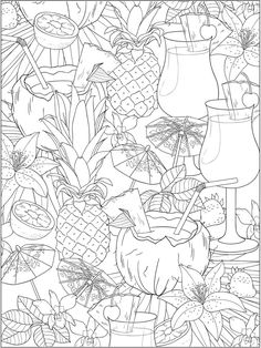 Adult Coloring Pages Food Awesome Wel E to Dover Publications Colour In Pages Food Coloring Pages, Summer Coloring Pages, Animal Coloring Pages, Coloring Pages To Print, Free Printable Coloring Pages, Free Coloring, Adult Coloring Pages, Coloring Books, Coloring Pages For Teenagers