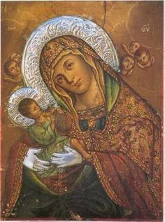 Ecclesia -Monasteries and Shrines Religious Images, Religious Art, Madonna, Blessed Virgin Mary, Our Lady, Byzantine, Greece, Mona Lisa, Angel