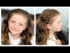 M 2 in 1 braided hairstyle. Peinado 2 en 1 + How to do a Fishtail Braid - YouTube