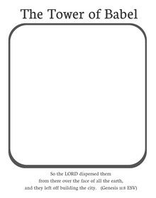 Use This Activity Sheet Template For Kids To Draw And Illustrate Their Own Tower Of Babel