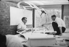 Kevin Roche and Eero Saarine - TWA Terminal / Courtesy of Eero Saarinen Collection; Manuscripts and Archives, Yale University Library