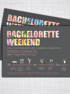 DIY Bachelorette Party Invitations with Itinerary