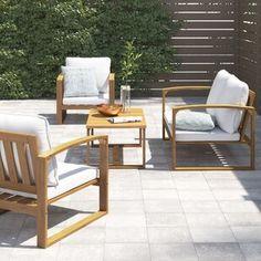 Garden Sofa Sets You'll Love | Wayfair.co.uk Fire Pit Construction, Outdoor Chairs, Outdoor Furniture Sets, Rattan Corner Sofa, Garden Sofa Set, Adjustable Height Table, Public Seating, Furniture Covers, Modular Design