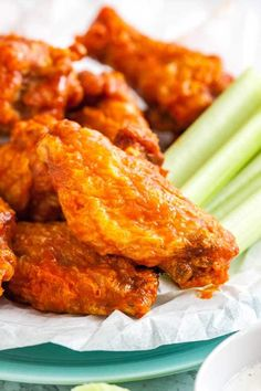 Air Fryer Chicken Wings are so crispy and delicious without using any extra oil! Cooking Chicken Wings in an Air Fryer instead of deep frying them makes them healthier and clean up easier. They are ready in only 30 minutes and so easy to make! Air Fryer Recipes Chicken Thighs, Air Fryer Fried Chicken, Air Fryer Oven Recipes, Air Frier Recipes, Air Fryer Chicken Wings, Air Fryer Dinner Recipes, Fried Chicken Recipes, Recipe Chicken, Air Fryer Wings
