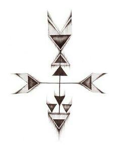 Classy arrow design tattoo