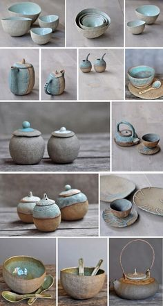 Jars, bowls, and plates