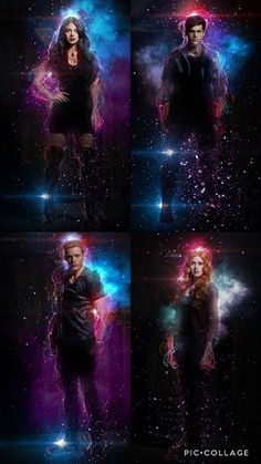 Isabelle, Alec, Jace et Clary Shadowhunters Series, Shadowhunters The Mortal Instruments, Isabelle Lightwood, Jace Wayland, Clary E Jace, Clary Fray, Mortal Instruments Wallpaper, Shadow Hunters Tv Show, Emo Wallpaper