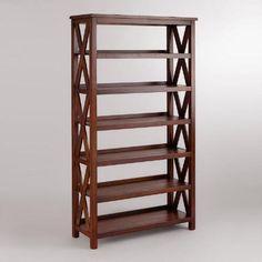 "at WorldMarket.com: Verona Six-Shelf BookshelfSolid hardwood frame with a mahogany finish Part of our Mahogany Verona Collection 39""W x 15""D x 72""H; 111.54 lbs."