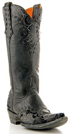 pinterest women's BLACK cowboy boots   ... Ariat Womens Black Tattoo Rodeobaby Rocker Cowboy Boots on Pinterest