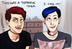 Image result for dan and phil fan edits