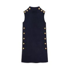 Mulberry - Cecile Dress in Navy Wool Felt