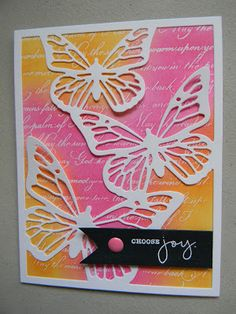 Marcia's Stampin' Pad: Make It Monday #243 - Ink Blending Over Heat Embossing
