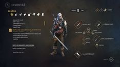 WITCHER the game - UI & Flashback Illustrations Remake