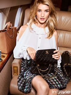 Why Rosie Huntington-Whiteley Is the Chicest Lady at the Airport   InStyle.com
