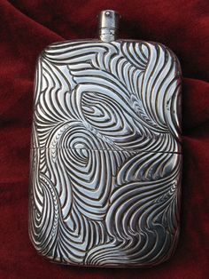 art deco inspired flask - Tiffany & Co. Silver Flask Presented to Robert Todd Lincoln