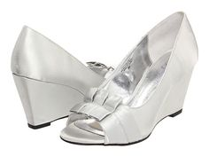 Bouquets Adabella Silver Satin - Zappos.com Free Shipping BOTH Ways  $50 Wide width avail.