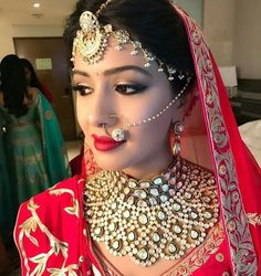 Bridal Nose Ring Ideas - Stunning Bridal Nath designs that Indian Brides Slayed - Witty Vows Wedding Wear, Wedding Bride, Wedding Events, Wedding Dress, Wedding Rings, Rajasthani Bride, Bridal Nose Ring, Nath Nose Ring, Indian Bridal Jewelry Sets
