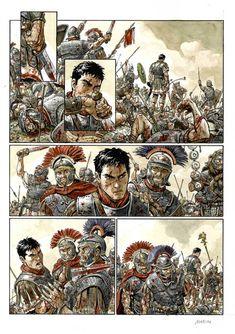 Rome History, Roman Armor, Comics Toons, Comic Layout, War Comics, Roman Soldiers, Ancient Rome, Military Art, Comic Artist