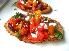 Greek Bruschetta w/ Feta, Olives and Mint
