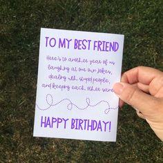 Funny Sarcastic Purple Birthday Card Friend For Best Woman Sarcasti