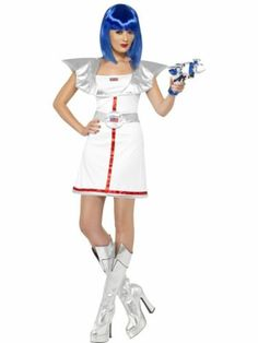 Spacegirl Costume Sci Fi Womens Ladies Fancy Dress Party Outfit Adult Smiffys   eBay