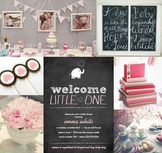 baby+shower+ideas+for+girls | baby shower inspiration board to help you plan a special girl baby ...