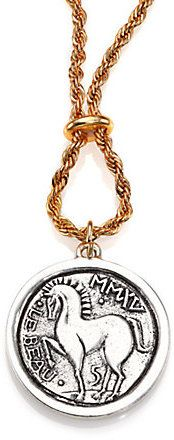 Giles & Brother Long Horse Coin Necklace
