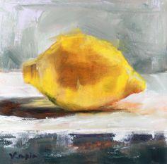 original art oil painting still life yellow lemon canvas art home decor wall art fine art painting daily painting kitchen art food art. $54.00, via Etsy.