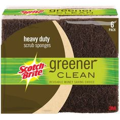 Scotch-Brite Greener Clean Heavy Duty Scrub Sponges, 6 count