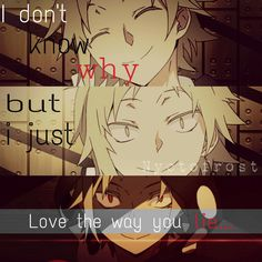 I love the way you lie :v #anime quotes #shuuya kano