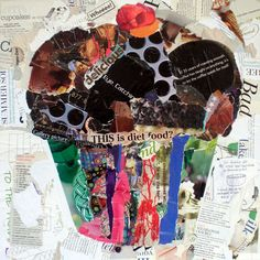 Cupcake Demo Sold Torn Paper Collage Workshop Plains, TX  We just finished a workshop here in Plains. I had an awesome group of ladies. They...