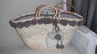 CAPAZO DECORADO Basket Bag, Straw Bag, Ibiza, Diy Crafts, Handbags, Quilts, Shopping, Baskets, Deco