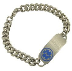 Stainless Heavy Duty : Stylish Medical ID, Style you can depend on .  Please visit us at www.stylishmedicalid.com to see this and more.
