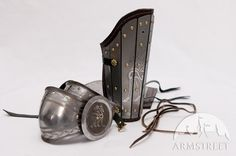 Medieval sca legal splint combat armor bracers with elbow cops for sale :: by medieval store ArmStreet