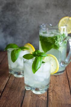 Basil Lemonade by EclecticRecipes.com #recipe