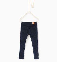 ZARA - KINDER - Hose aus Velveton mit Reißverschlüssen