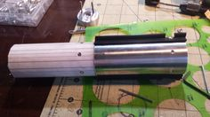 MHS Graflex Custom Lightsaber Build. MHS hilt section, printed template to mount the rubber T-grips. Drilled and tapped screw mounting holes for the ESB/Force Awakens style grips.