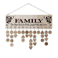 Wooden Family Birthday Tracker - great Christmas gift idea for Mom, Grandma, or a mother in law!
